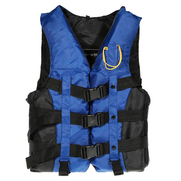 Y2261BL-2XL Adult Swimming Boating Drifting Safety Life Jacket Vest with Whistle L-2XL Lodzi Ratunkowej