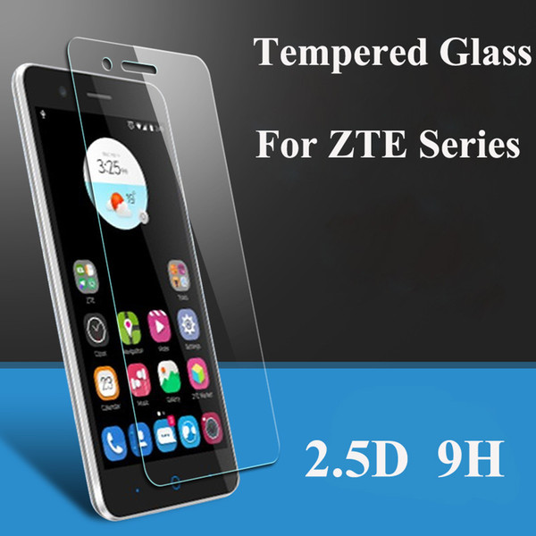 Screen Protector Tempered Glass For ZTE Blade X3 X5 X7 X9 L2 L3 L5 S6 Plus A452 A510 A460 V7 Lite Max V580 V6 D6 S7 Film