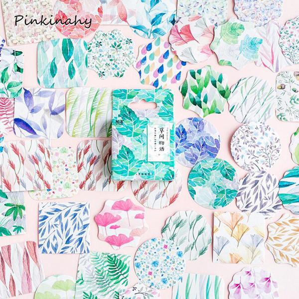 45 teile / los Pflanzen Grüne Blätter mini papier aufkleber dekoration DIY ablum tagebuch scrapbooking etikett aufkleber kawaii briefpapier