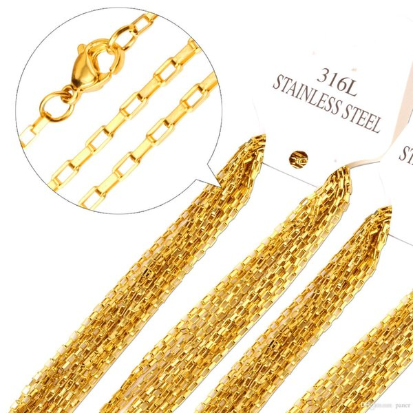 whole sale10pcs/lot 45cm-60cm Length 2mm cross chain stainless steel necklace fashion welding chain sweater women lady jewelry