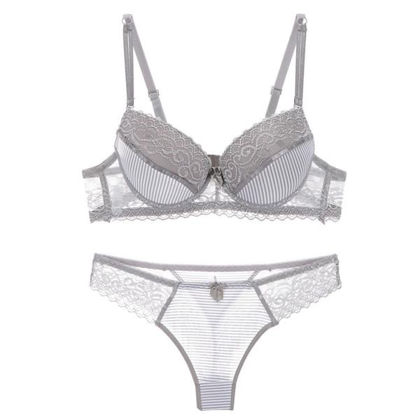a49845e597 ABC sexy bra set lace push up women underwear panty set cotton refreshing  bra brief sets France lingerie suit