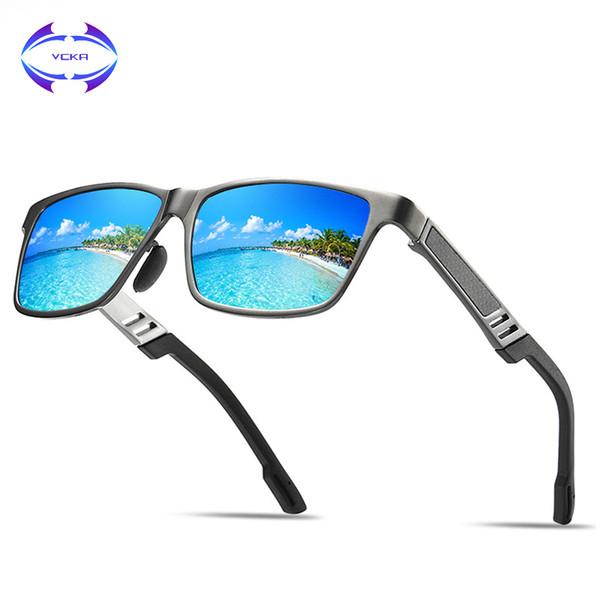 7a7af38ae8 VCKA MARCA DISEÑO Clásico gafas de sol polarizadas Hombres Vintage Polaroid  HD Lente Gafas de Sol