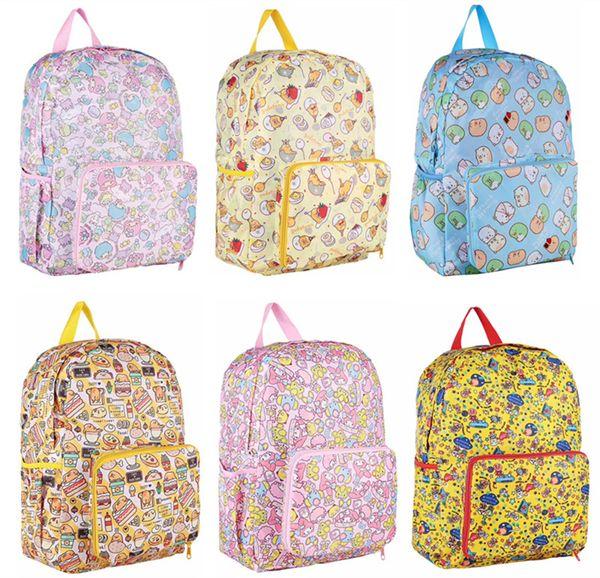 Cartoon Hello Kitty Duffy Bear Gudetama My Meloday Bag School Backpack Folding Foldable Travel Bag Waterproof Rucksack Back Pack