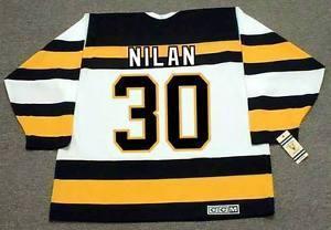 CHRIS NILAN Boston Bruins 1992 CCM Weinlese MN Gewohnheit irgendein NameNo. Hockey personalisierte Trikots