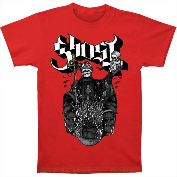 Tshirt O-Boyun Yaz Kişilik Moda Erkek T-Shirt Hayalet B.c. Erkekler; Kırmızı Tee Slim Fit T-shirt Kırmızı S Chalice