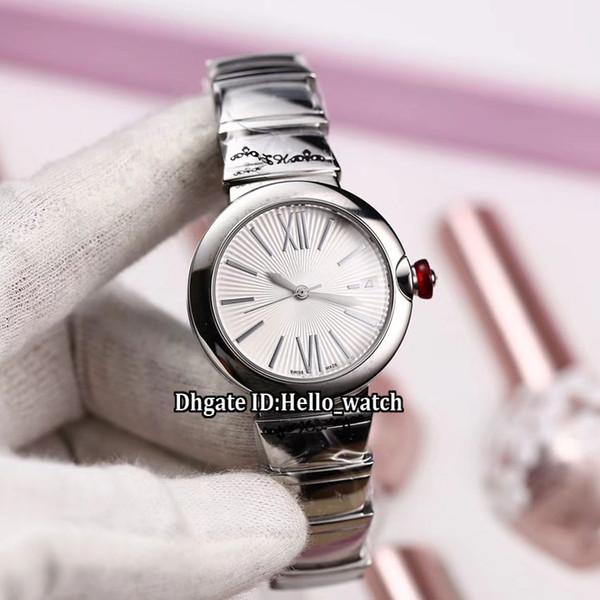 هدية عيد الحب LVCEA 33mm تاريخ 102219 الأبيض الهاتفي اليابان Miyota 8215 التلقائي للمرأة ووتش الفولاذ المقاوم للصدأ الفرقة أزياء سيدة الساعات