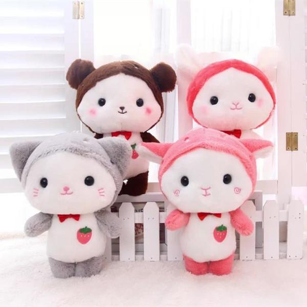 Stuffed Toys Plush Animals Soft Kids Baby Toys for Girls Children Boys Birthday Gift Kawaii Cartoon cow rabbit