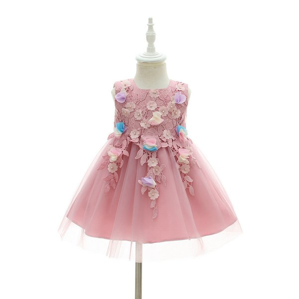 2018 BrandNew Factory Outlet Newborn Toddler baby girl Baptism Dress Christening Gown kids Girl party Infant Flower Princess wedding dresses