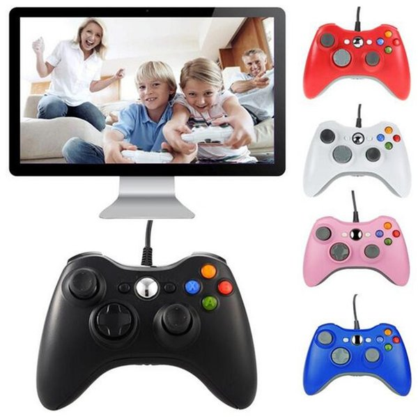 Game Controller for Xbox 360 Gamepad Black USB Wire PC for XBOX 360 Joypad Joystick Accessory For Laptop Computer PC