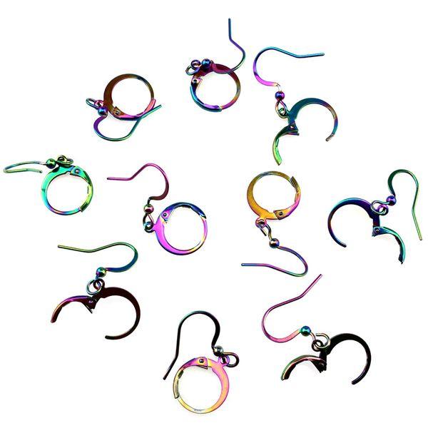 Ganci per orecchini a forma di arcobaleno Chiusura a clip Accessori per bracciali in acciaio inossidabile