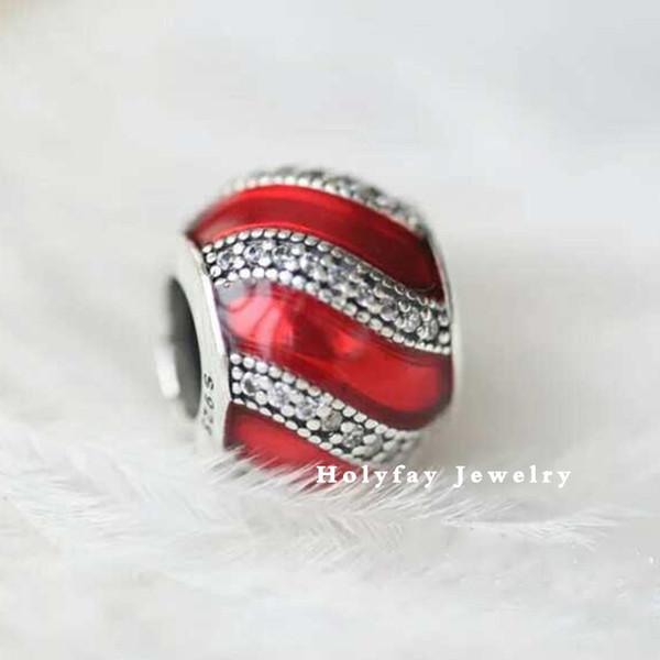 Fascino per ornamento Trasparente perline in smalto blu royal e blu traslucido Charm perline in argento sterling 925 fit per bracciali Pandora Bangles
