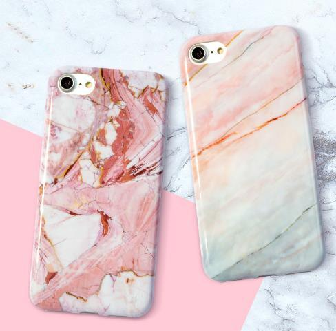 Fashion Marble Phone Case for iPhone 6 6S Plus Case Classic Black White Pink Soft Cover for iPhone 7 8 Plus Cases Shell