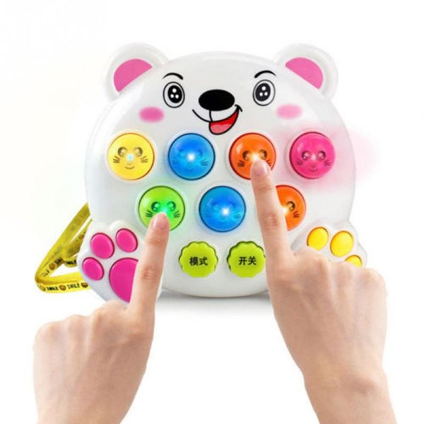 Baby Kids Plastic Music Toys Play Knock Hit Hamster Insect Game Playing Fruit Worm Educational instrumentos musicais free shipping
