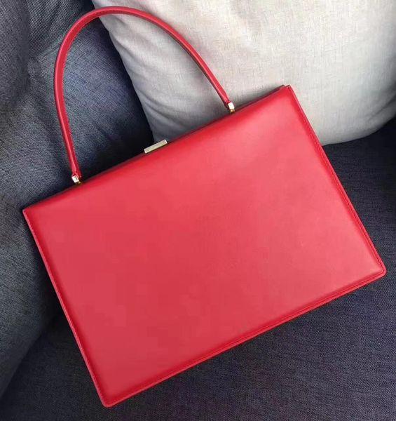 High quality Fashion Bags Women Handbag Classical file Totes c IS line briefcase Woman ladies box Genuine Leather Messenger bag 90052