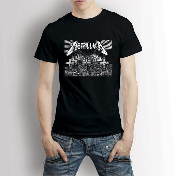 1e4e74716 Metalica Master Of Puppets Men's T-Shirt Tee Tee Shirt Hipster Harajuku  Brand Clothing T