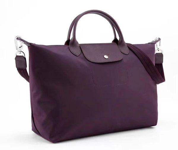 Nylon dumplings bag folding dumpling bag short handle slanting shoulder women's bag