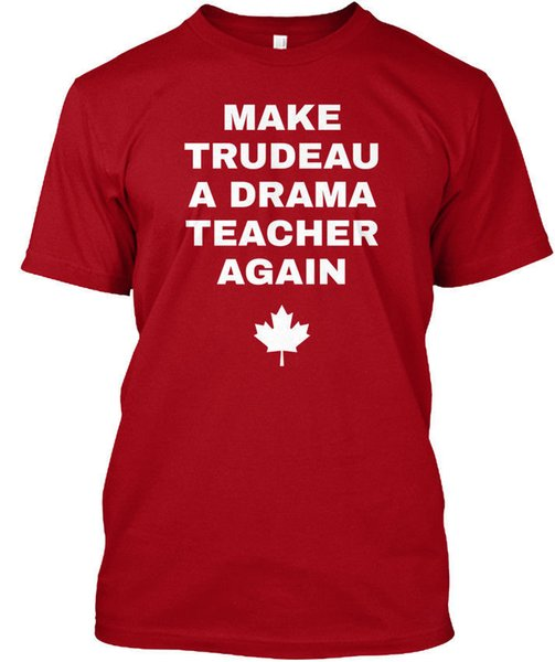 Teacher Christmas Shirts.Awesome Shirts Crew Neck Short Sleeve Christmas Make Trudeau A Drama Teacher Again Shirt For Men Funny Screen Tees Shirts With Design From