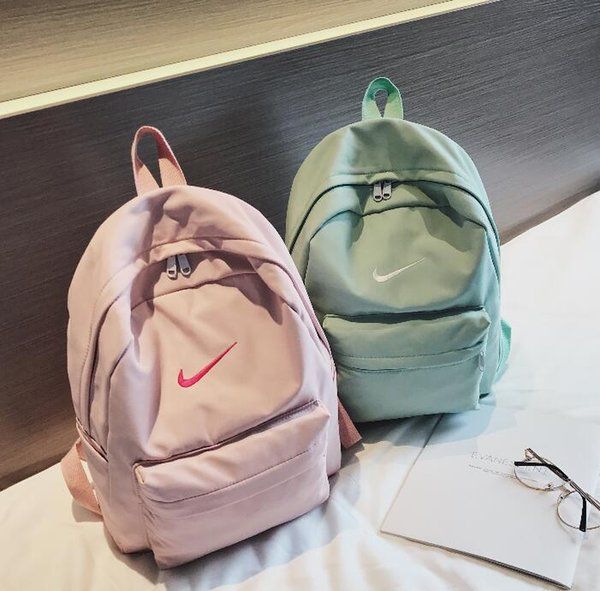 Trendy explosion student bag men and women with the same logo backpack
