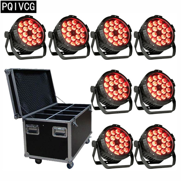 8pcs/18x12w outdoor waterproof led par light with flight case dmx 4/8ch waterproof led ip65 Waterproof led light