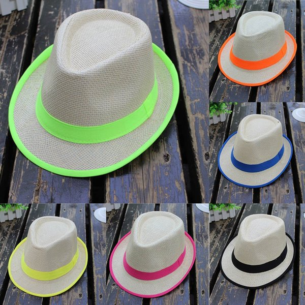 CHAMSGEND 2018 Unisex Men Women Beach Straw Hat Jazz Panama Trilby Fedora Hat Gangster Cap Summer Mesh Hats For Drop Shipping