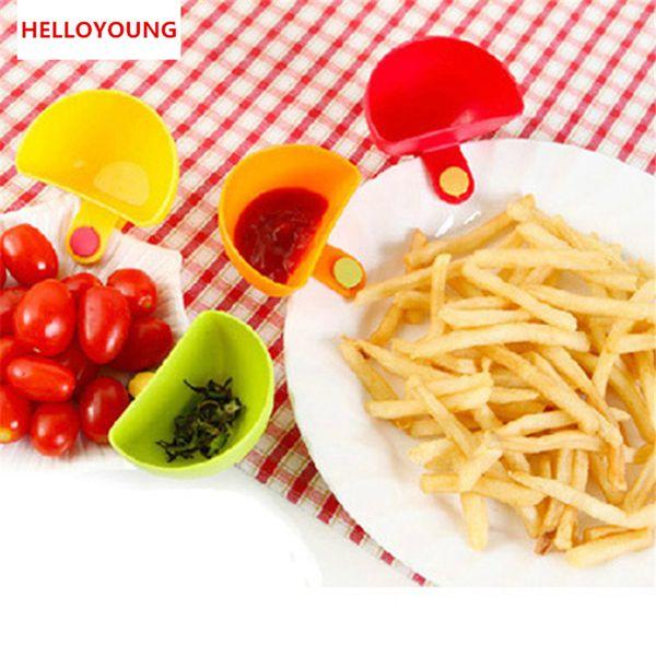 Preferências Dip bacia para Assorted Salada molho ketchup Jam Sabor Açúcar Especiarias Dip clipe Cup bacia Pires Acessórios de cozinha aparelhos