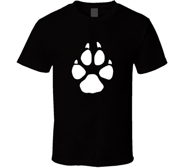 Coyote Tracks Men's Black T-shirt Animal Hunting Print Size S To 3XL New From US Great Discount Cotton Men Tee