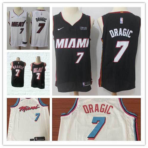 a3f17ac6 2019 New Mens 7 Goran Dragic Miami Heat Basketball Jerseys Stitched  Embroidery Mesh Dense AU Goran