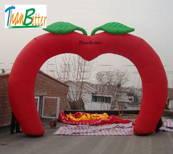 ThanBetter Hot sale heart shape giant inflatable wedding arch/archway, inflatable decorations for wedding