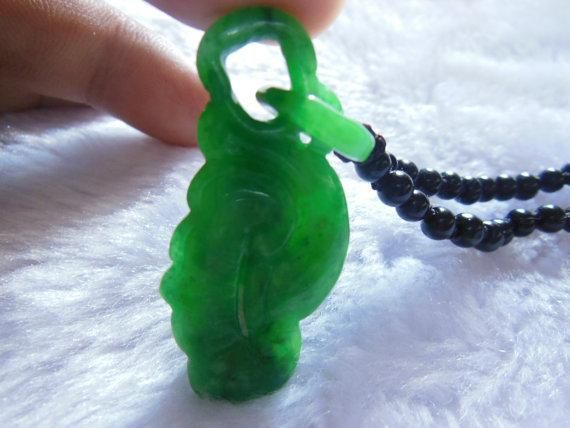 Free Delivery natural dark green jadeite jade hand-carved natural jade Ruyi Pendant