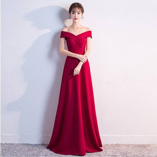 Robe De Soiree Red Cheap Sexy A-line Prom Dresses 2018 Sheer Jewel Neck off shoulder Sleeveless Long Formal Evening Dresses