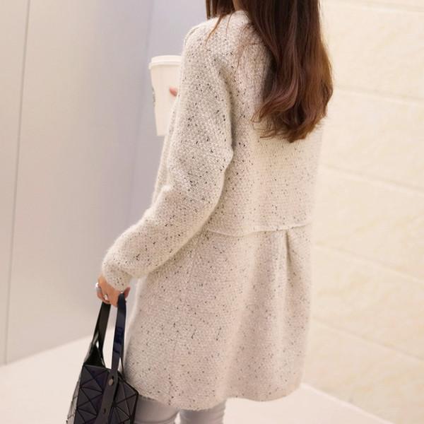 Compre 2018 Nueva Moda Otoño Primavera Cardigan Suéter De Las ...