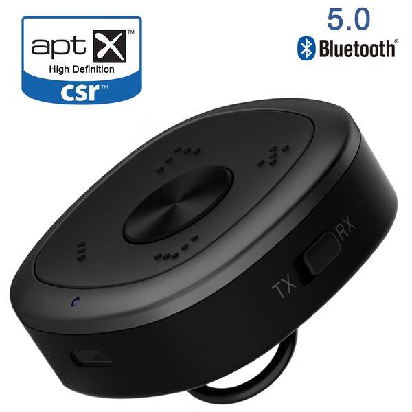 Bluetooth 5.0 Empfänger und Sender 2 in 1 aptX CSR HD Niedrige Latenz Dual Stream HD Audio für TV Home Stereo System