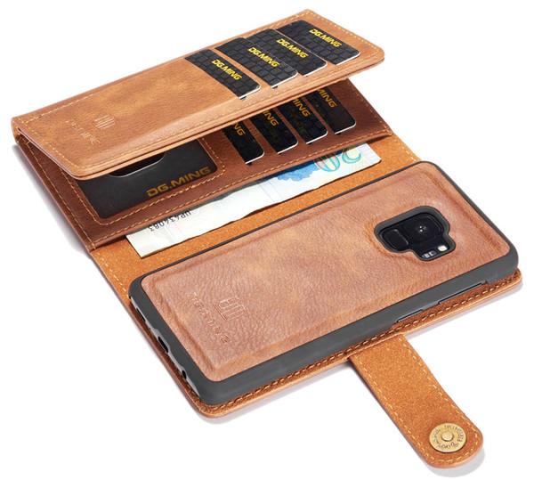Multi-card Slots Carteira Bolsa De Couro Capa para Samsung Galaxy Note 8 9 Caso S7 S7 Borda S8 S8 Mais Magnética Voltar Shell Caso Flip