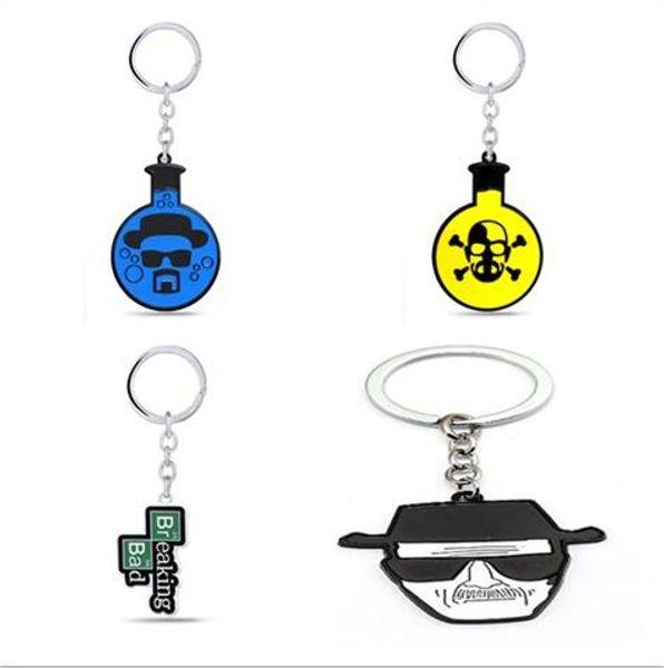 Mixed Movie Breaking Bad BA BR Keychain Metal Heisenberg Mask Walter White Key Ring Chain Car Pendant Souvenir Chaveiro