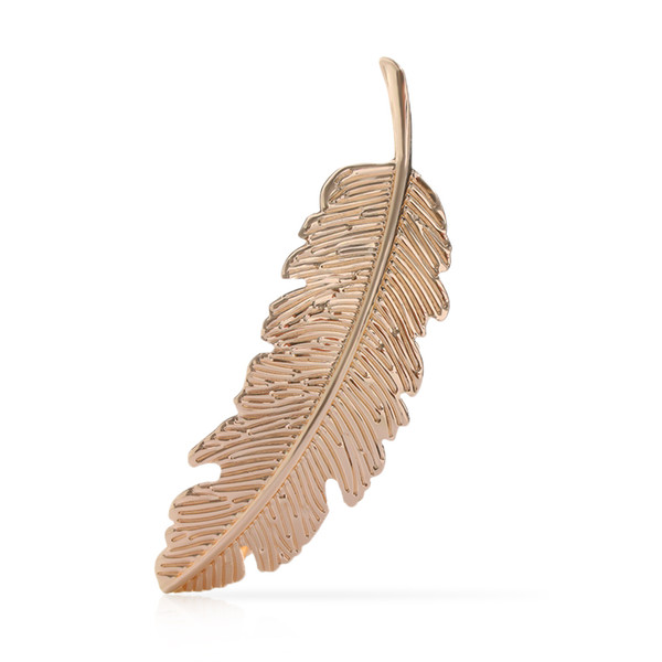 2018 Fashion Christmas Gifts Hair Accessories Hair Ornament Party Decoration Women Fashion Leaf Feather Hair Clip Hairpin