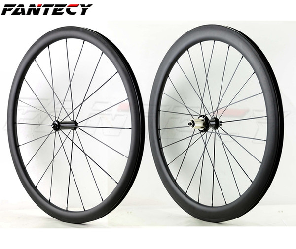 FANTECY 700C Front 38mm Rear 50mm depth full carbon wheels 25mm width road bike wheelset with Powerway R36 hubs UD matte finish clincher