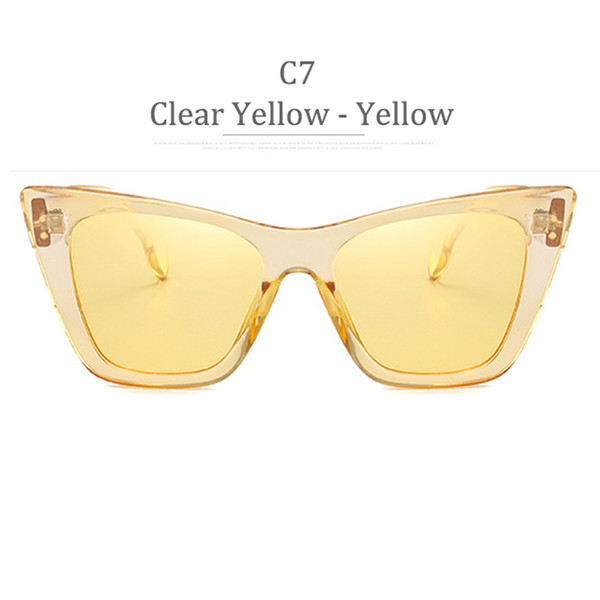 C7 Clear Yellow Frame Yellow Lens