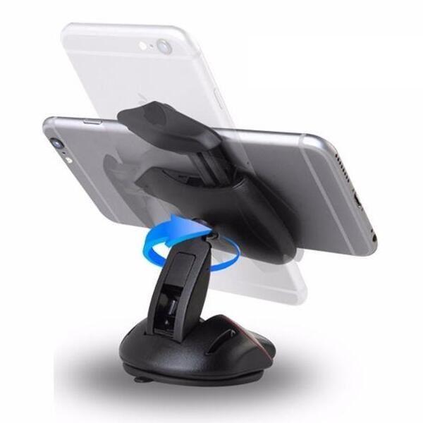 Tek Dokunmatik Fare Araba Telefonu Standı Tutucu Dashboard Cam Danışma Montaj Dirseği Vantuz iPhone 7 Galaxy Huawei 360 Derece Rotasyon