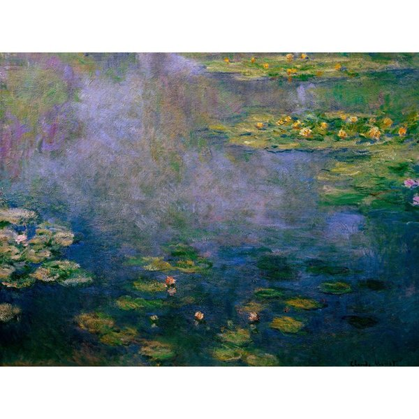 Fine art painting by Claude Monet Water Lilies II - impressionist canvas artwork for room decor