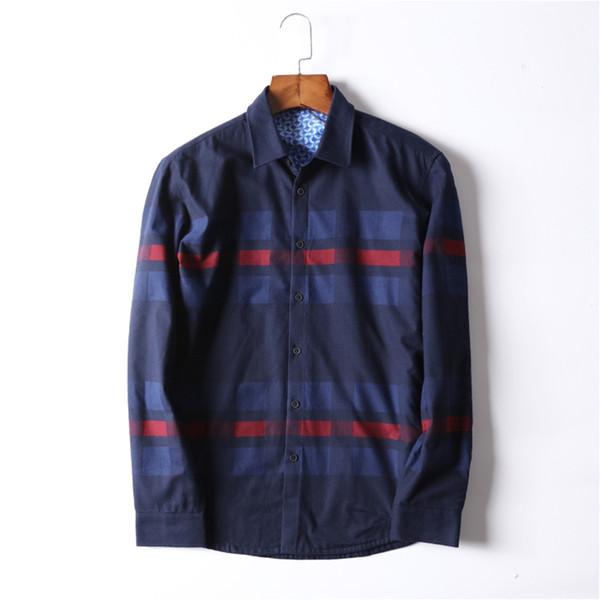 winter Keep warm new shirt casual men's full-sleeved shirt fashion outside cotton men's
