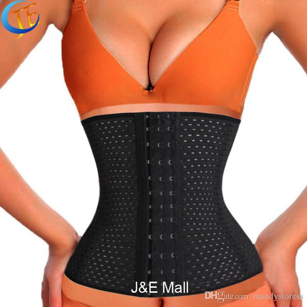 Wholesale- LSYCDS Hollow Out Breathable Smooth Three Spiral Steel Bone Hot Body Shapers Women Plus Size 6XL Waist Trainer latex for Ladies