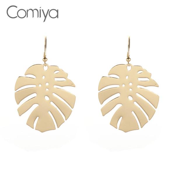 Comiya marca liga de zinco brincos de folha para as mulheres jóia indiana boho declaração vintage brinco padrão aretes de mujer bijoux