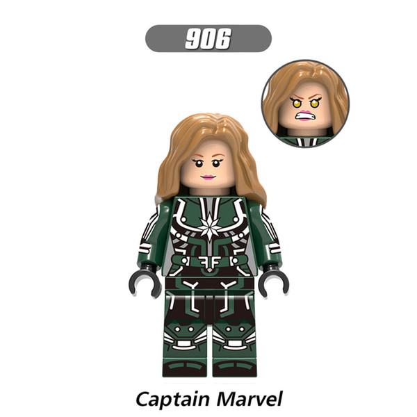 Super Heroes Figures Captain Marvel XH906 Antman Wasp Iron Man Baron Zemo Erik Selvig Ghost Zuri Building Blocks Toys for children X0197 diy