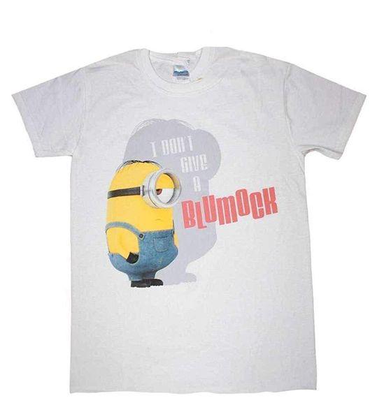 Minion (Cattivissimo Me) - Io No Give a Blumock - T-Shirt Ufficiale Uomo Cotton T-Shirt Fashion T Shirt Free Shipping