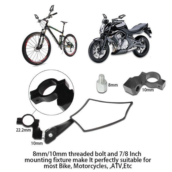 Motorrad Spiegel Motorrad Rückansicht Rückspiegel Universal Lenker Glas Spiegel für Motorrad Mountain Road Fahrrad