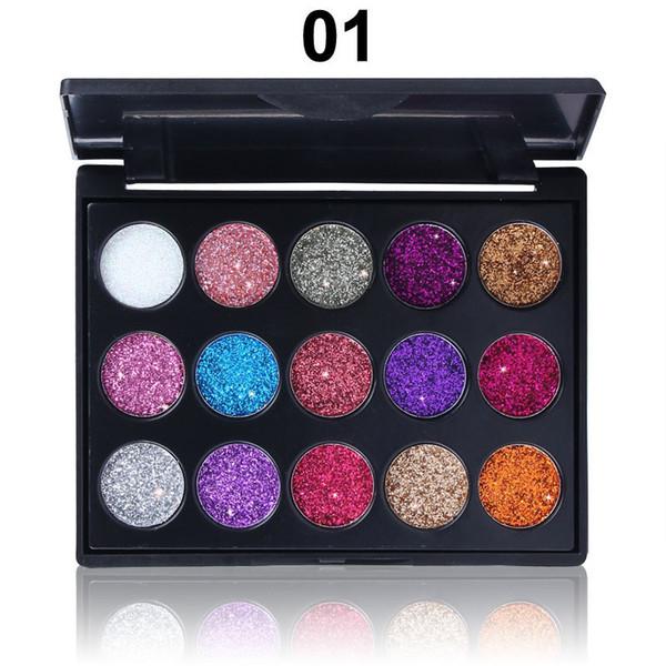 Ombretto Occhi Marroni CmaaDu Makeup Eyeshadow Palettes Diamond Paillettes Shiny Glitter Eye Make Up 2 Stili Trucco Occhi Piccoli Da St_sz_eli, $1.75