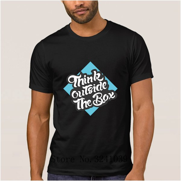La Maxpa Print Comical think outside the box men t shirt 2017 Graphic t-shirt Unique regular tshirt for men Short Sleeve hip hop