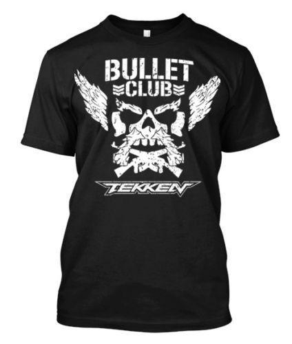 Tekken Bullet Club NJPW - Camiseta para hombre personalizada TeeMens 2018 marca de moda Camiseta con cuello en O 100% camiseta de algodón Tops Camiseta personalizada Ambiental
