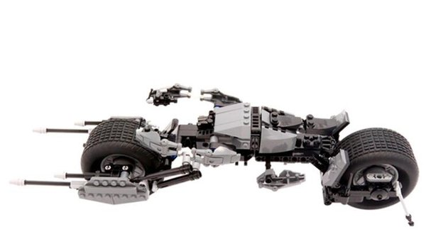 High quality new super hero series spell plug building blocks Batman motorcycle racing boy toy birthday gift