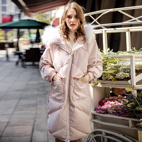 Großhandel 2018 Winter Frauen Daunen Langen Mantel Fell Mit